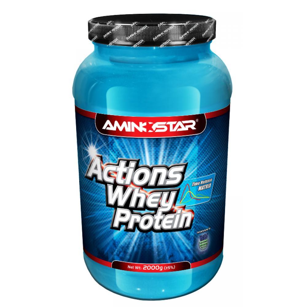 Aminostar Whey Protein ACTIONS(R) 65, Vanilka, 2000 g