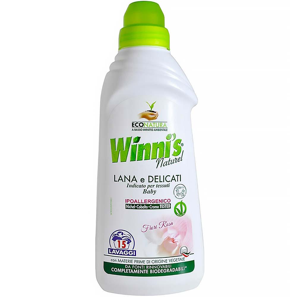 WINNI´S Lana – hypoalergenní prací gel na vlnu a jemné tkaniny a dětské prádlo 750 ml