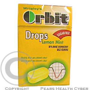 WRIGLEYS Orbit Lemon Mint drops 14ks