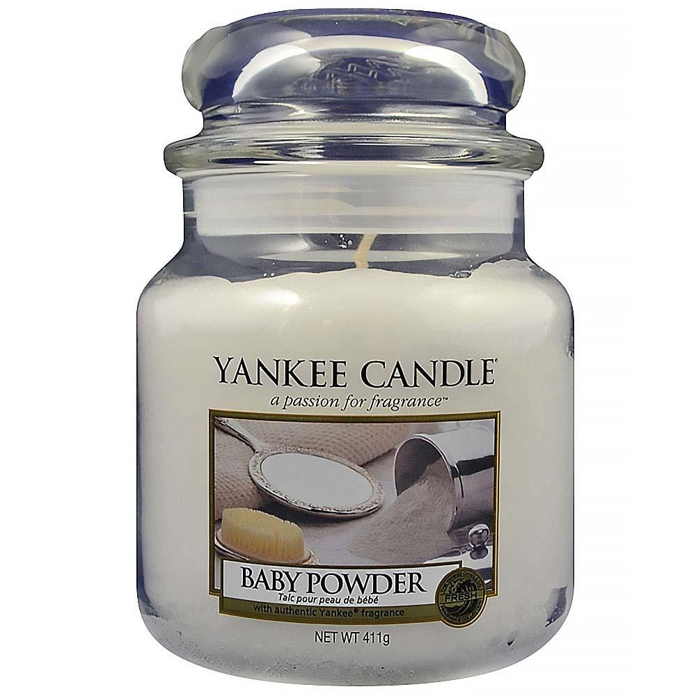 YANKEE CANDLE Classic Baby Powder střední 411 g