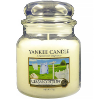 YANKEE CANDLE Clean Cotton Classic střední 411 g