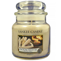 YANKEE CANDLE Classic Crackling Wood Fire střední 411 g