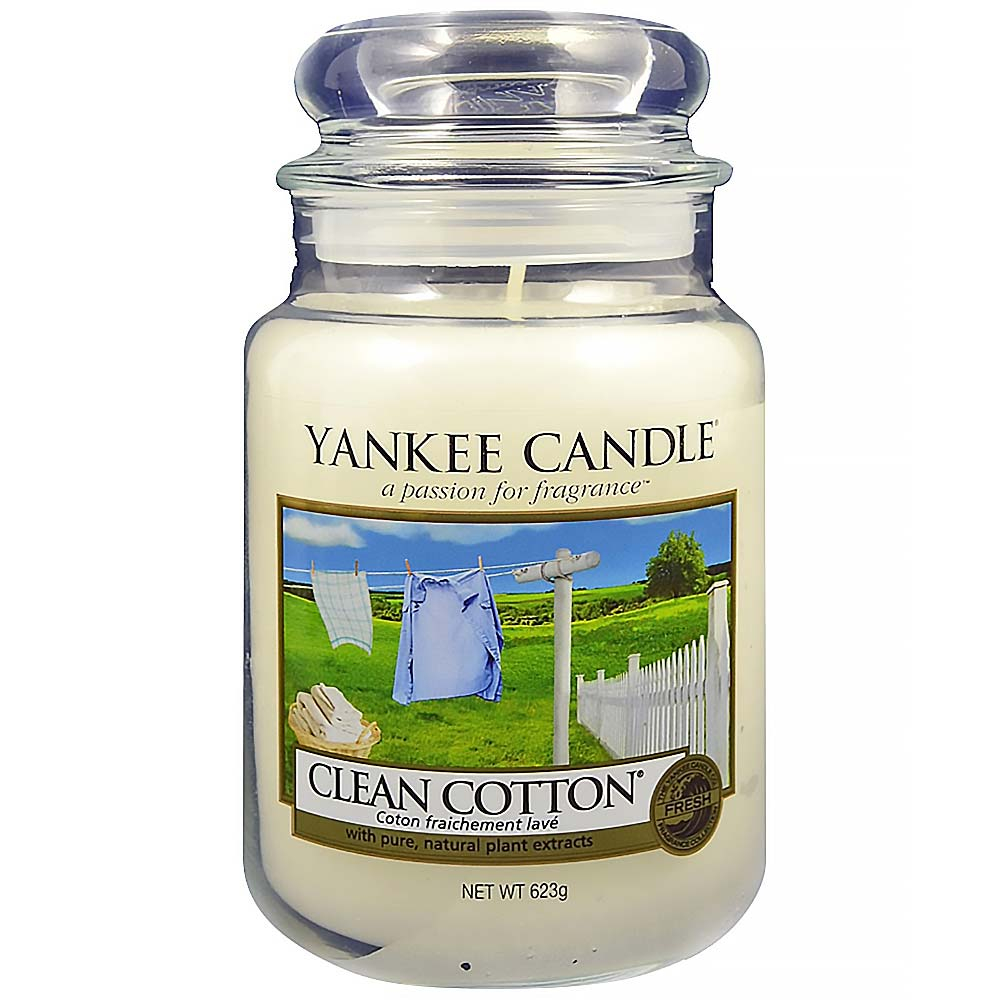 YANKEE CANDLE Classic Clean Cotton velký 623 g