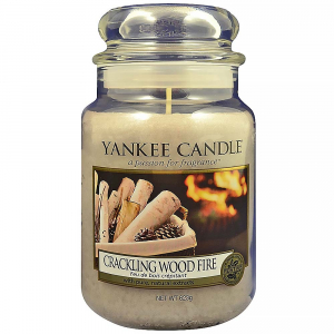 YANKEE CANDLE Classic Crackling Wood Fire velký 623 g