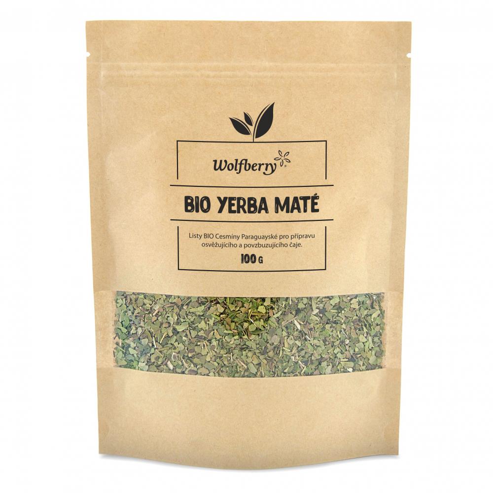 WOLFBERRY Zelený čaj Yerba maté lístky BIO 100 g