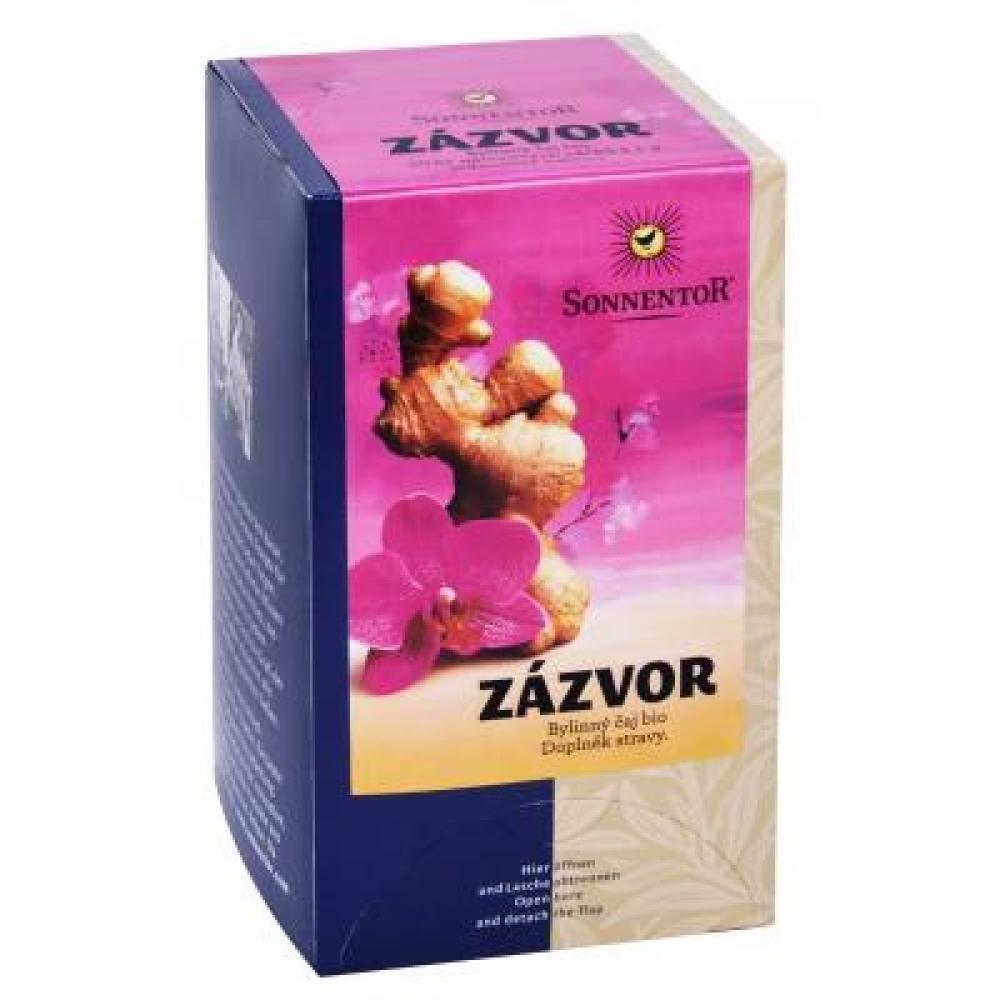 SONNENTOR Zázvor bio čaj porc. dárkový 20 g 20 sáčků