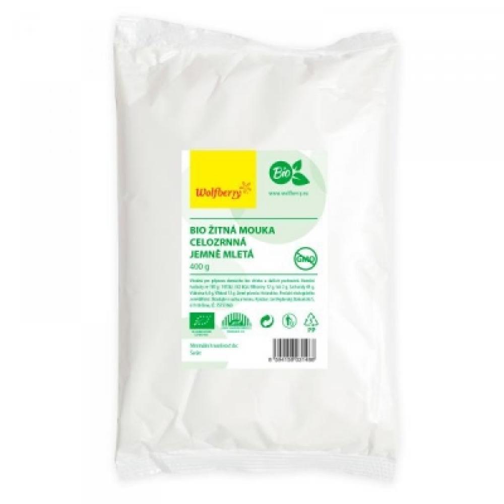 WOLFBERRY Žitná mouka celozrnná jemná BIO 400 g