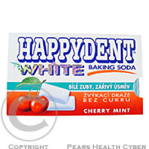 Žvýkačky Happydent White Baking Soda Cherry mint